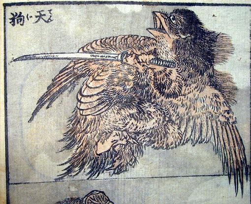 hokusai_tengu